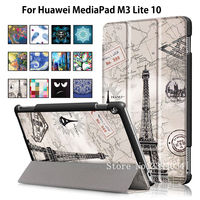 Sleep Wake Magnet Case For Huawei MediaPad M3 Lite 10 BAH W09 BAH AL00 10 1