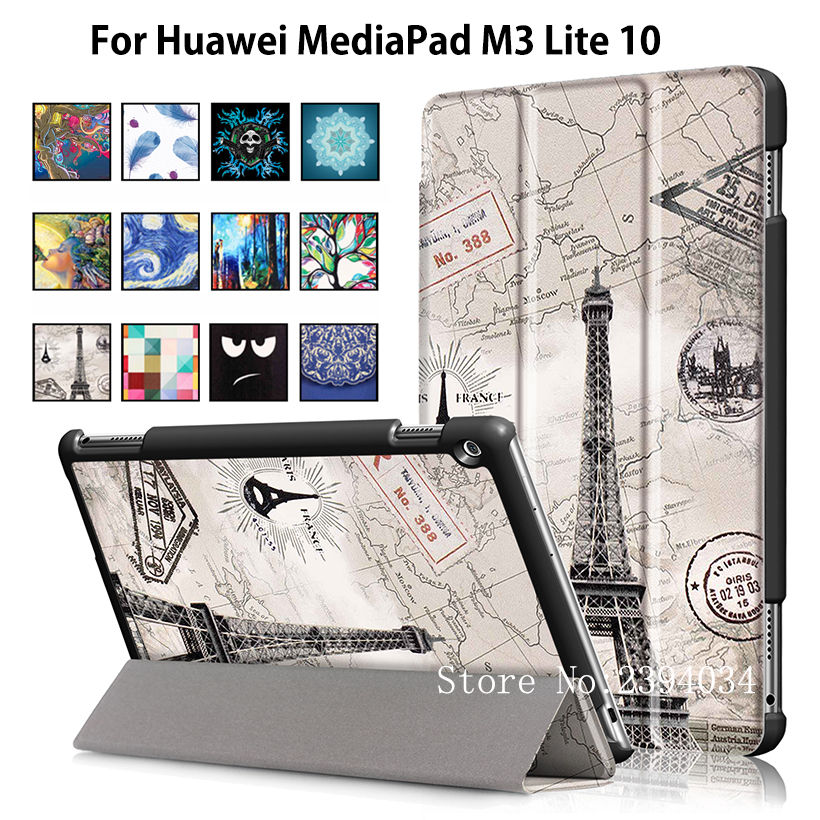 Sleep wake Magnet Case For Huawei MediaPad M3 Lite 10 BAH-W09 BAH-AL00 10.1