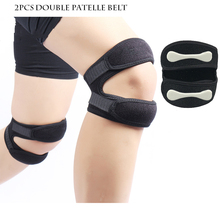 2pcs Adjustable Patella Support Knee Brace Elastic Bandage Tape Tendon Strap Belt Jumper GYM Pads Protector