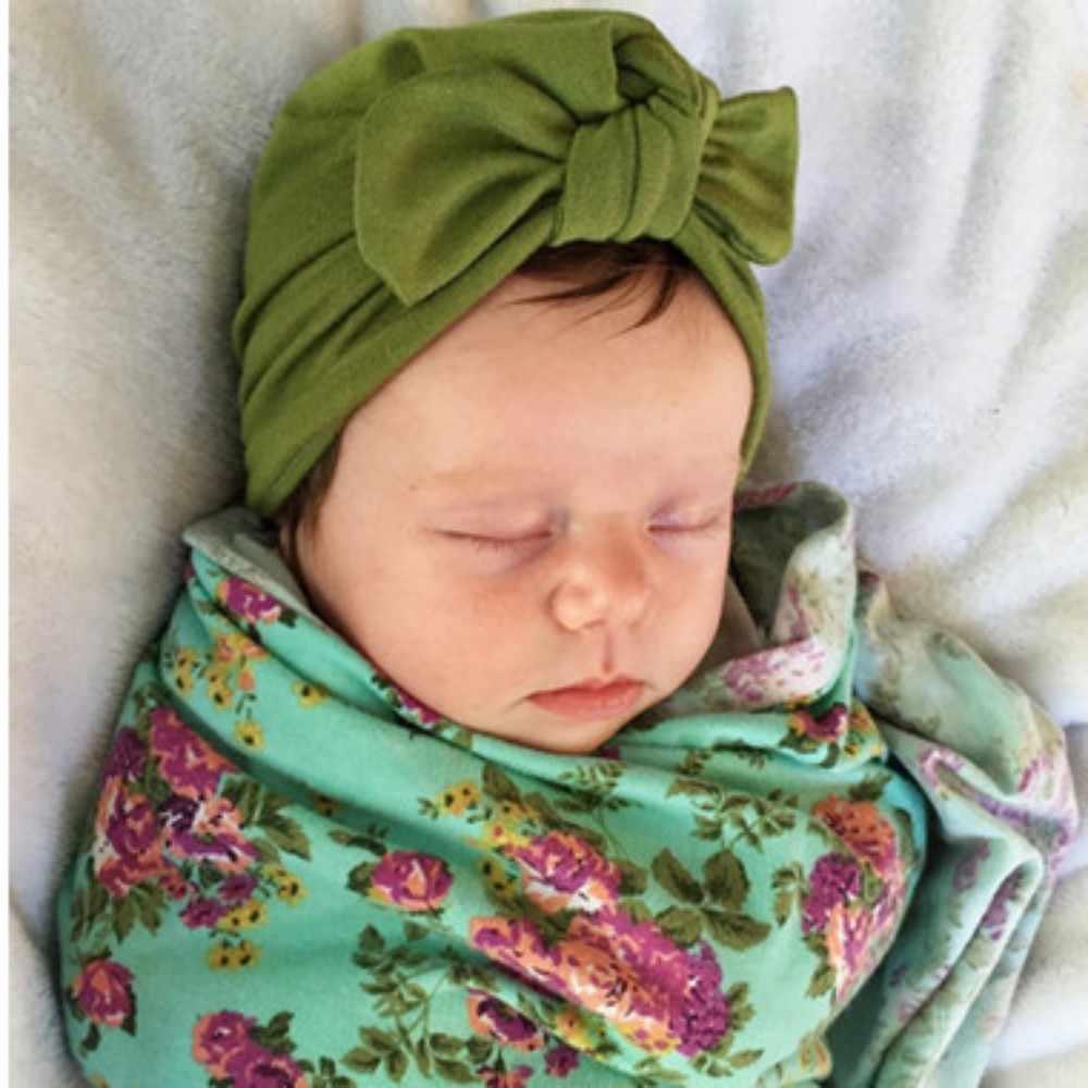 ... Newborn Baby Rabbit Ear hat infant pure color Elastic Turban Knot Head  Wraps baby Turban Photography ... 7835a4d6bfa