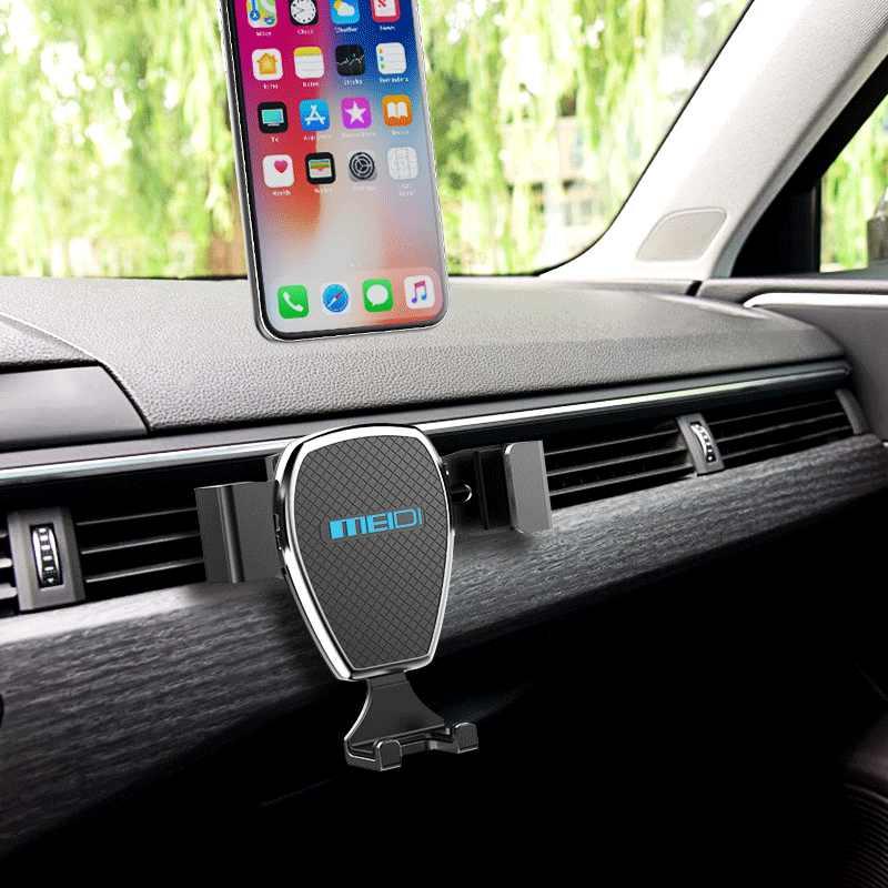 Soporte de teléfono para coche, MEIDI gravedad funcionamiento con una sola mano soporte de ventilación de aire Universal para iPhone 7/6 s/6 Plus 5S/SamsungS8/7