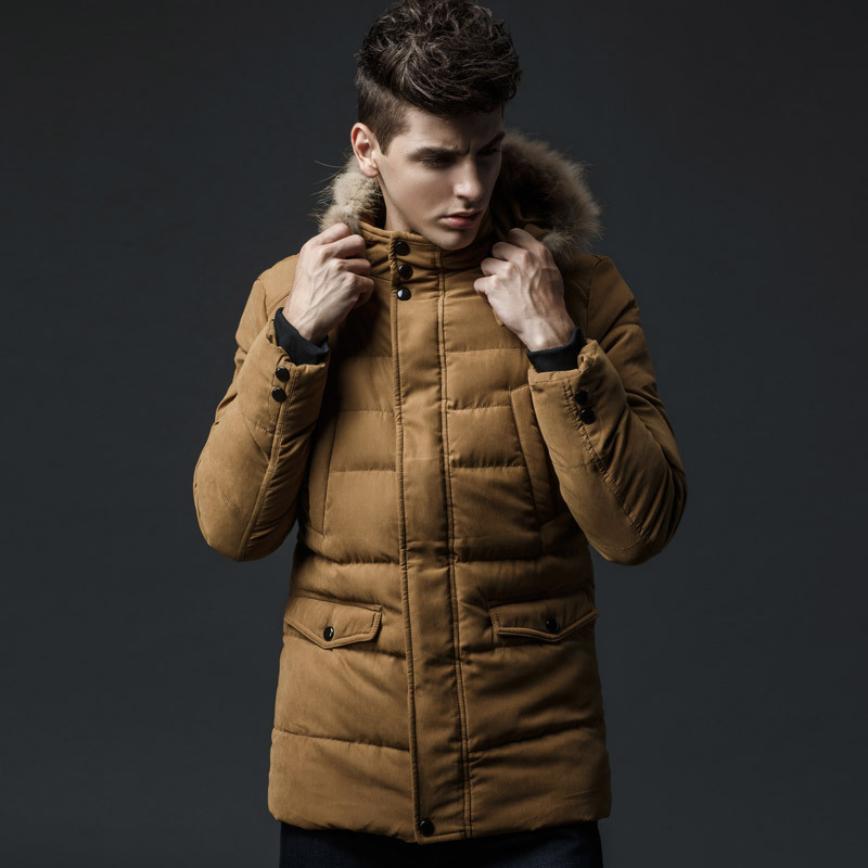 2016 new arrival men's thick warm winter down coat fur collar army green men parka big yards long cotton coat jacket parka men thickening warm fur collar winter coat new 2016 women clothes lamb wool jacket hooded parka army green overcoat xl a3878