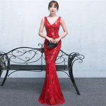edce1477df50b Popular Red Sequin Chinese Dress-Buy Cheap Red Sequin Chinese Dress ...
