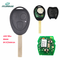 Replacement Remote Car Key Fob 433MHz ID33 PCF7931AS Chip for BMW Mini Copper, for Land Rover 75 MG ZT 2002 2005