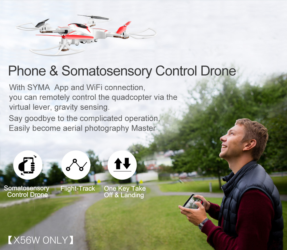 SYMA Official X56W RC Drone Folding Quadrocopter With Wifi Camera Real-time Sharing Flashing Light RC Helicopter Drones Aircraft 6