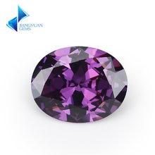 Размер 2x3 ~ 13x18 мм овальная форма 5А фиолетовый Фианит искусственный