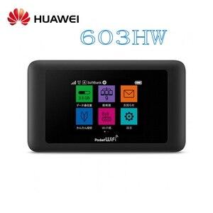 Разблокированный маршрутизатор Huawei 603hw поддержка английского 4g lte sim wifi мобильный 5g LTE Adanced WiFi маршрутизатор Cat11 сенсорный ЖК-дисплей Карманн...