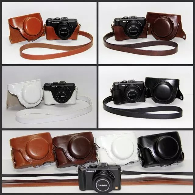 Full Protection Bags PU Leather Cover Camera <font><b>Case</b></font> For Panasonic LX5 <font><b>LX7</b></font> LX3 Camera Accessories image