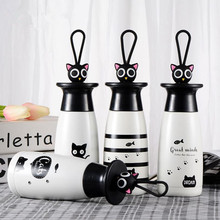 Cute animal fashion creative cartoon stainless steel thermos insulation cup student sports cups