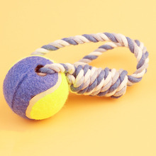 Dog Tennis Ball Toys with Rope Puppy Indoor Outdoor Training Playing Interactive Toy for Pet Funny