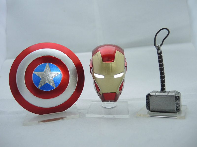 Diplomatic New 3pcs/set Avengers Captain America Shield Iron Man Helmet Raytheon Hammer Desktop Decoration Car Accessories Ag744 Strong Packing Back To Search Resultstoys & Hobbies