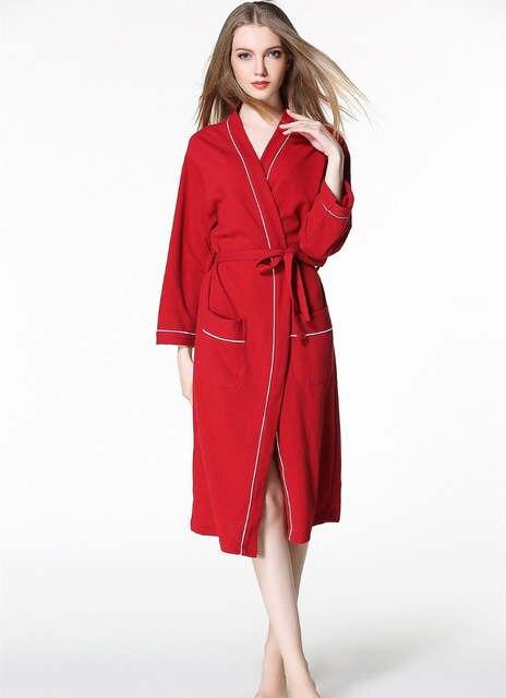 1805ad9825 Women waffle bathrobes Women bathroom hotels spa robe plus size pajamas  Traditional Yukata Sleepwear couples kimono