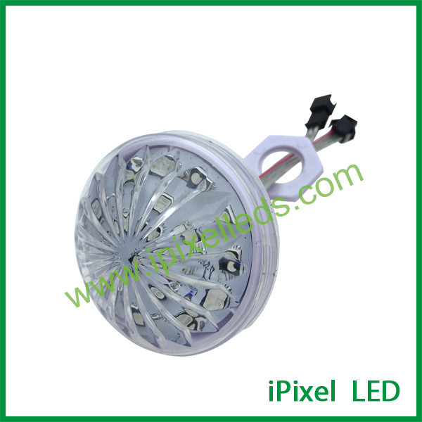 Addressable full color led bulb 60mm RGB clear Cabochon led cap For Ferris Wheel