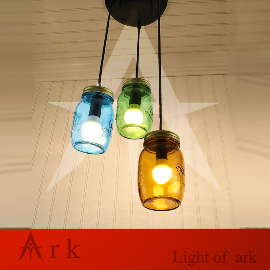 1PCS Small Simple Modern Colorful Bottle Led Pendant