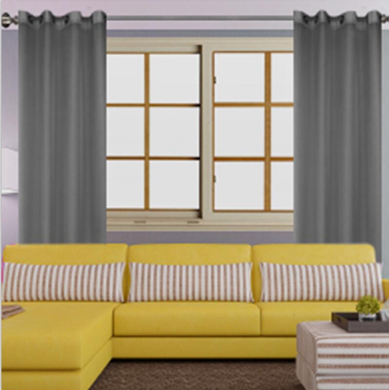 US $5.09 49% OFF|Flying Luxury Modern Curtains Living Room Bedroom Door  Solid Bright Color Home Decor French Window Curtain Drape TULLE Cortina-in  ...