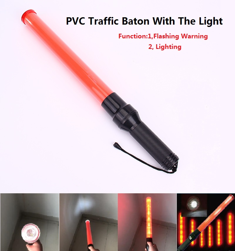 Outdoor Safety LED Traffic Baton With The Light Safety Signal Warning Flashing Fire Fluorescent Wand Baton