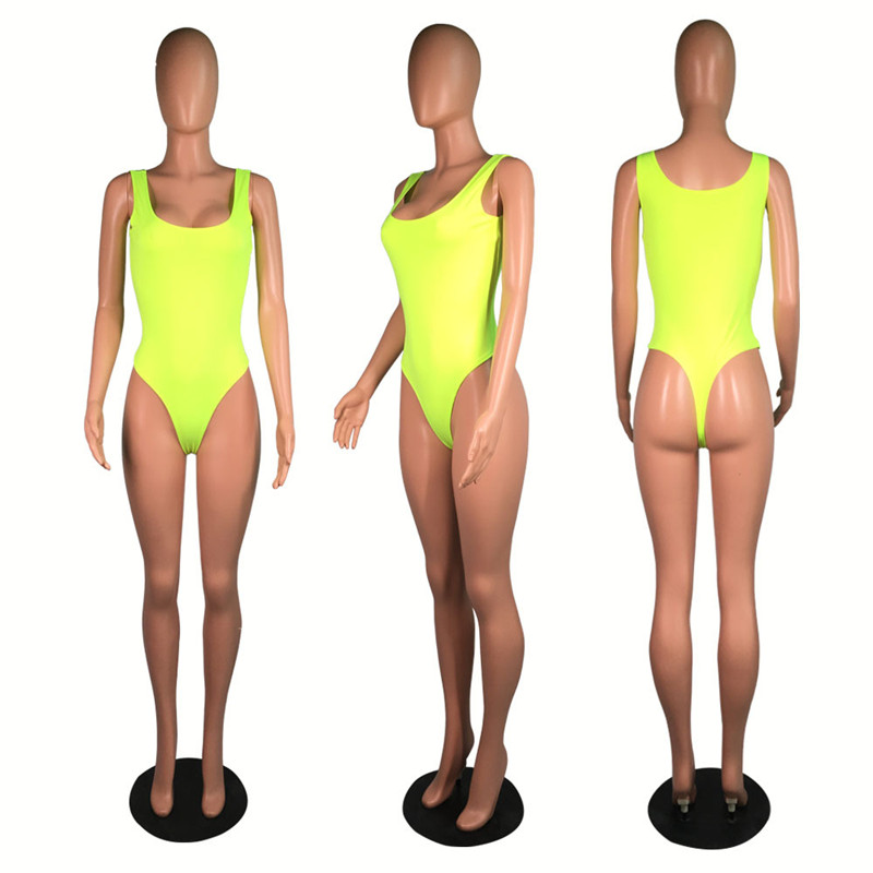 HTB1Jip0XoT1gK0jSZFrq6ANCXXaB - ANJAMANOR Sexy Two Piece Set Bodysuit Top and Mesh Pants Neon Pink Green Summer 2 Piece Club Outfits Matching Sets D59-AB72