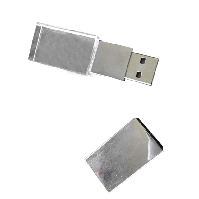 64GB 64G USB2.0 Transparent LED Flash Memory Stick Thumb Pen Drive Data Storage
