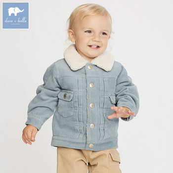 DB5942 dave bella autumn infant baby boys fashion coat kids toddler outerwear children hight quality clothes