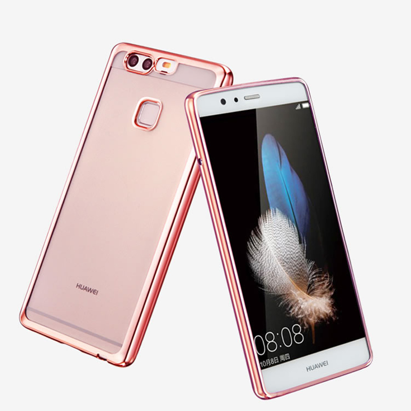 huawei p9 rose gold price. aliexpress.com : buy luxury cover case for huawei p9 lite plus original back battery clear transparent gold armor soft tpu mobile phone cases from rose price