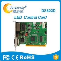 LINSN DS802D LED display sending card synchronous dual color sender led controller card p3.9 scrolling message led sending card
