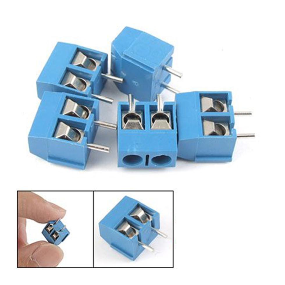 2015 Hot 5 Pcs 2P 5mm Pitch PCB Screw Terminal Block Connector