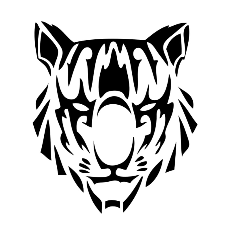 Tatuaje Tigre Tribal 11 cm * 12.8 cm tatuaje tribal tiger head personalidad etiqueta