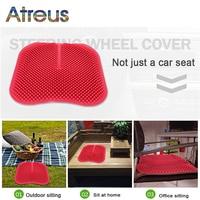 Atreus Silicone massage cushion Car Seat Cover For Skoda Octavia A5 A7 2 Rapid Fabia Yeti Superb Ford Focus Seat Ibiza Leon 2 3