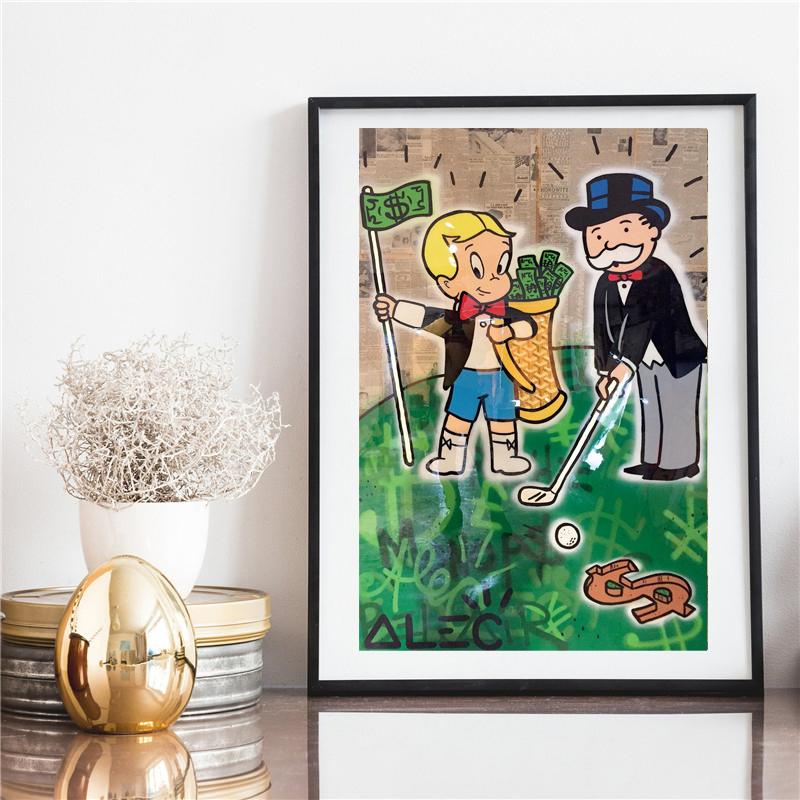 Alec Monopolies Richie Goyard Golf HD Canvas Painting Print Living Room Home Decor Modern Wall Art Oil Painting Poster Pictures in Painting Calligraphy from Home Garden