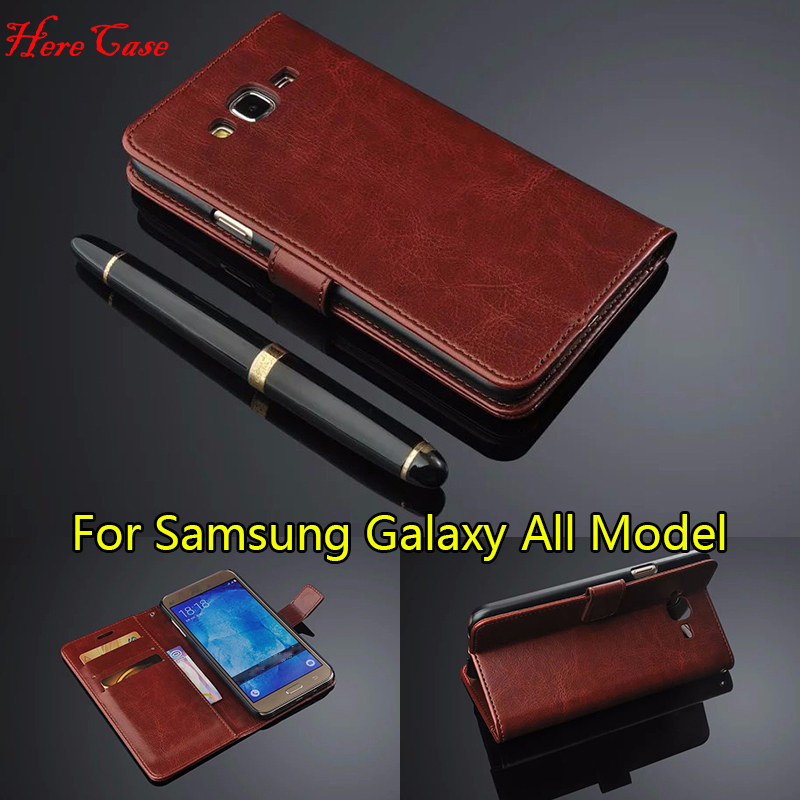 Genuine Flip Wallet <font><b>Leather</b></font> <font><b>case</b></font> for <font><b>Samsung</b></font> Galaxy A3 A5 A7 J1 J3 J5 J7 2016 Cover For <font><b>Samsung</b></font> Galaxy S3 S4 <font><b>S5</b></font> S6 S7 Edge Cover image