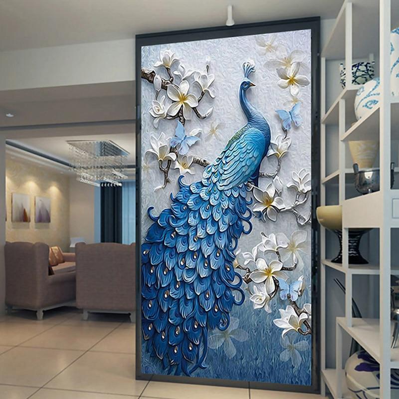 25 Wall Mural Designs: Custom Mural Wallpaper European Style 3D Relief Flowers