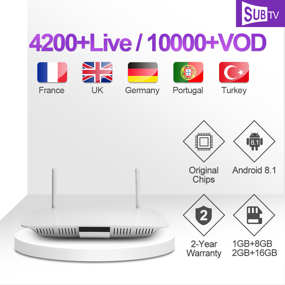 IPTV Subscription Leadcool Q1404 Box 1 Year SUBTV Arabic French IP TV Code FULL HD 4K H.265 Swedish Polish IPTV Italy Portuguese-in Set-top Boxes from Consumer Electronics