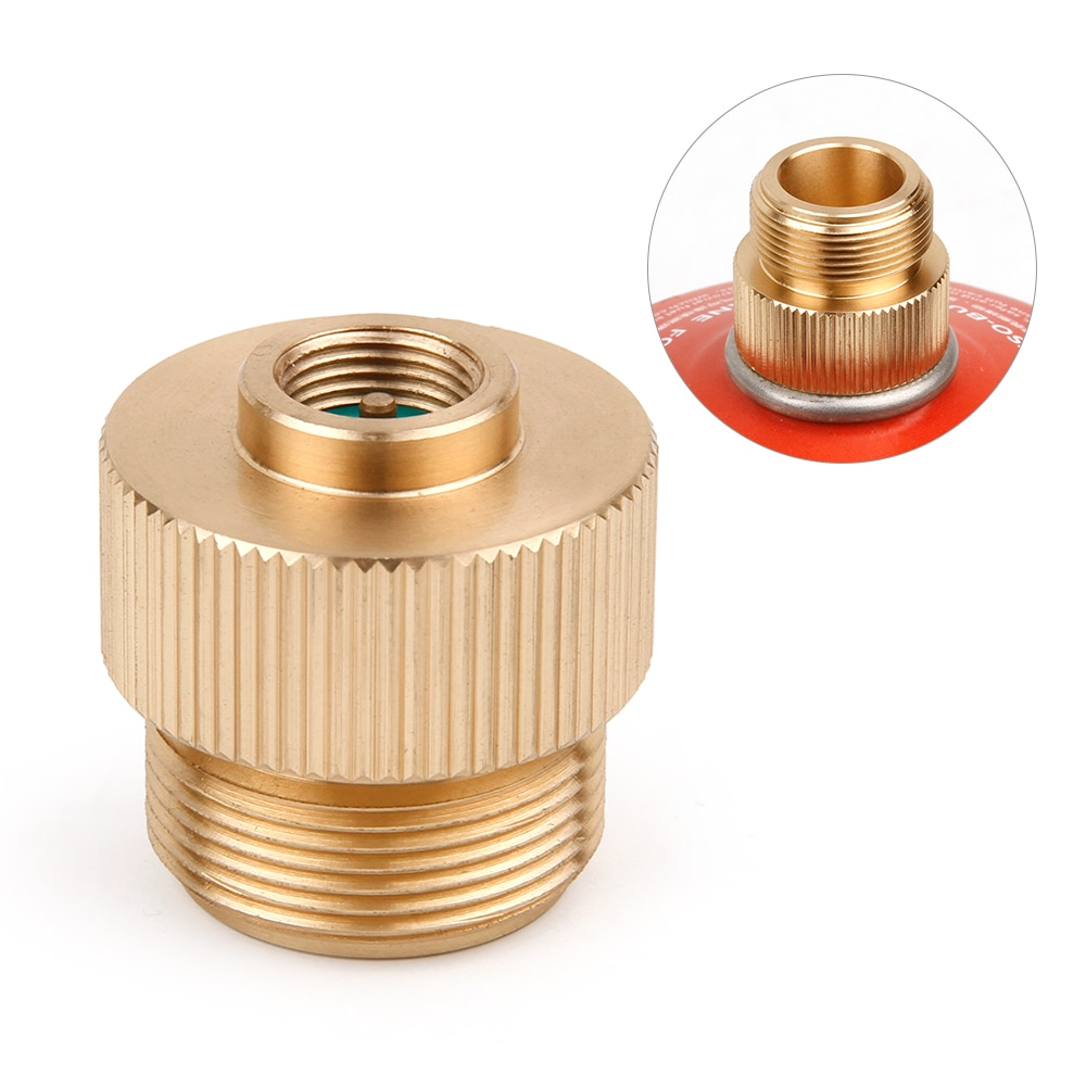 Outdoor Gas Refill Adapter Camping Stove Gas Cylinder Stove Converter Accessories MAPP Gas Refill Adapter for