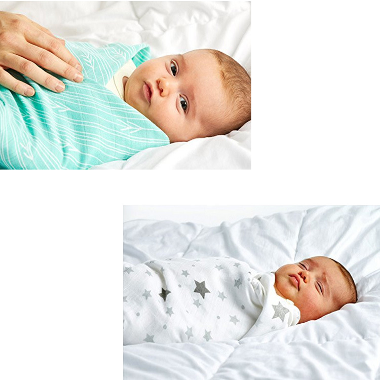Bebê bambu musselina swaddle cobertor design náutico