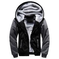 The North Of Plus Size 5XL Jackets Men Warm Fur Hooded Warm Parka Men Plus Velvet