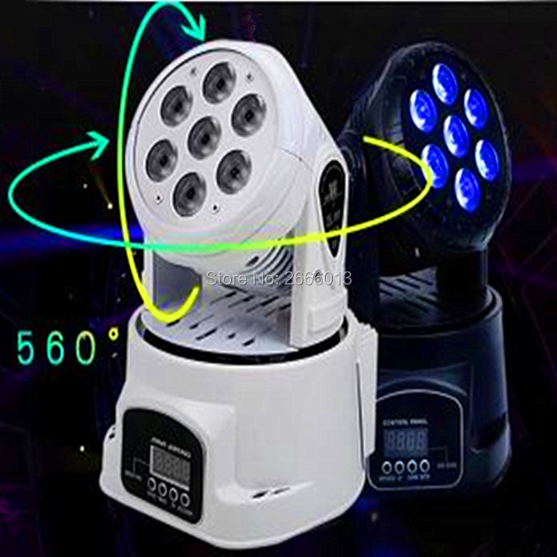 все цены на  High brightness 7x12w LED Moving Head light RGBW Mini Wash stage effect lights with advanced 14 Channels DMX512 QUAD strobe lamp  онлайн