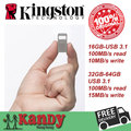 Kingston de metal micro mini usb 3.0 3.1 flash drive pen drive 16 gb 32 gb 64 gb del usb del palillo chiavetta pendrives memoria venta al por mayor