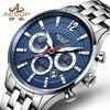 AESOP Luminous Sport Mechanical Watch Men Luxury Business Automatic Men Watch Stainlees Steel Waterproof Male Clock