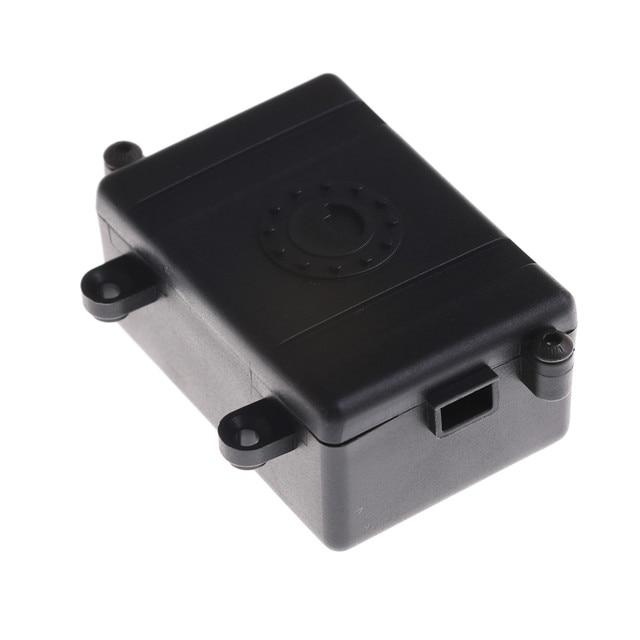 Caja de receptor RC coche Radio caja de decoración herramienta de plástico ESC para 1/10 RC Rock orugas coche Axial SCX10 RC4WD D90 d110 D130