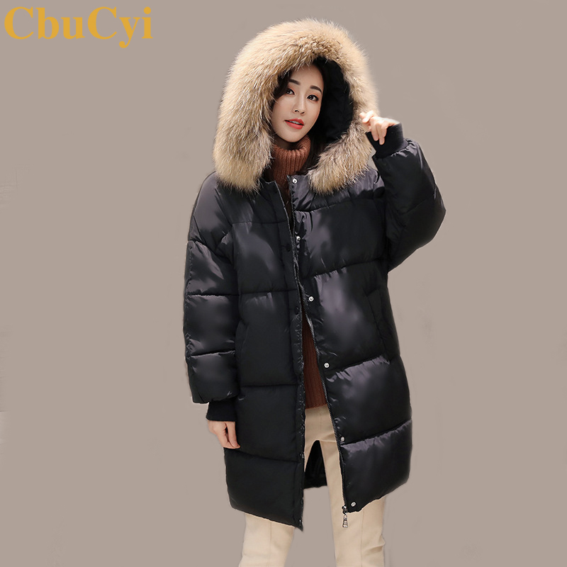 CbuCyi Fashion Winter Women's Long Parkas Coat Plus Size Big Faux Fur Collar Jakcet Coats Female Warm Thick Outwear Parka Coats цены онлайн