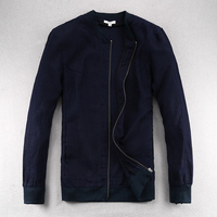 Spring Autumn Breathable Linen Jacket Men Casual Thin Loose Solid Jackets Men Brand Casual Mens Jacket