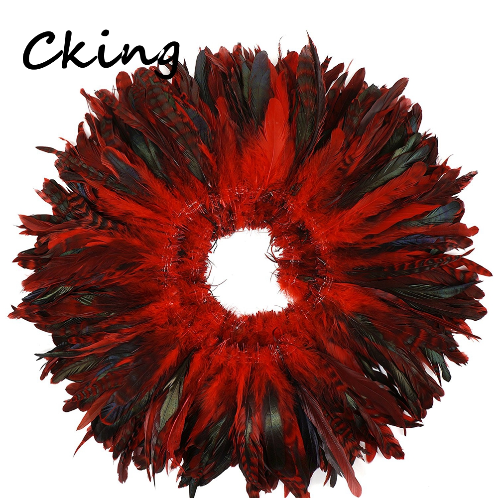 4 6 10 15cm Natural Red CHINCHILLA Rooster Saddles Feathers rolls strungs for art, millinery, craft, rooster, grizzly, trimming