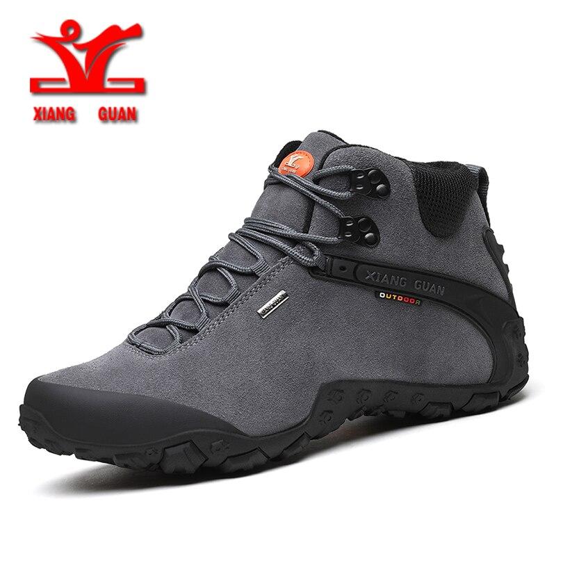 xiangguan 2019 winter men Climbing boots outdoor hiking shoes for men anti slip sport shoes resistant