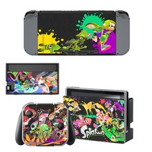 Game Splatoon 2 Decal Protector Vinyl Skin Sticker for Nintendo Switch NS Console+Controller+Stand Holder Protective Film