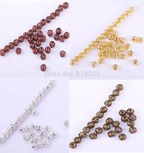 OMH Grosir Grosir 500Pcs Perak/Emas/Bronze/Tembaga Mini Spacer Bead 4Mm(China)