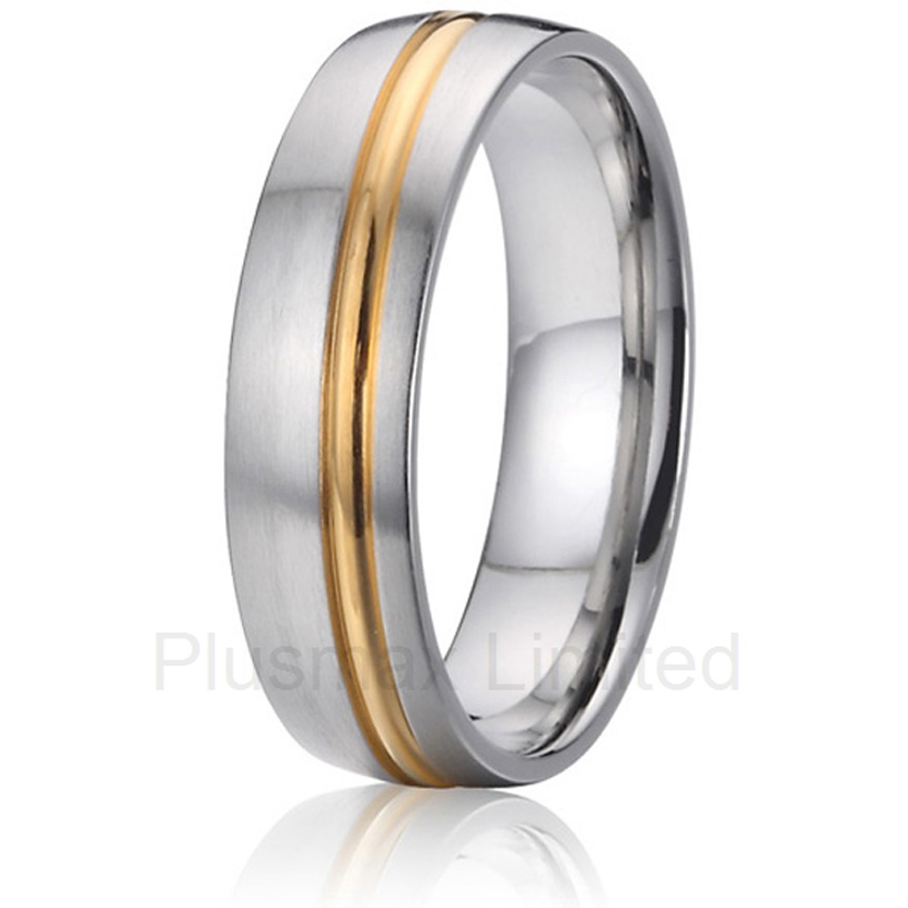 2016 Anel de Casamento wealth and prosperity UK style pure titanium jewelry promise wedding rings anel de casamento cheap pure titanium satin surface gold color colorful stone cheap pure titanium promise wedding band rings