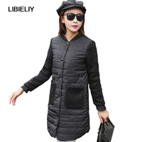 Nice New Spring Parka Jacket Women Winter Coat Womens Medium Long Cotton Padded Warm Jacket Coat High Quality Pop Sale