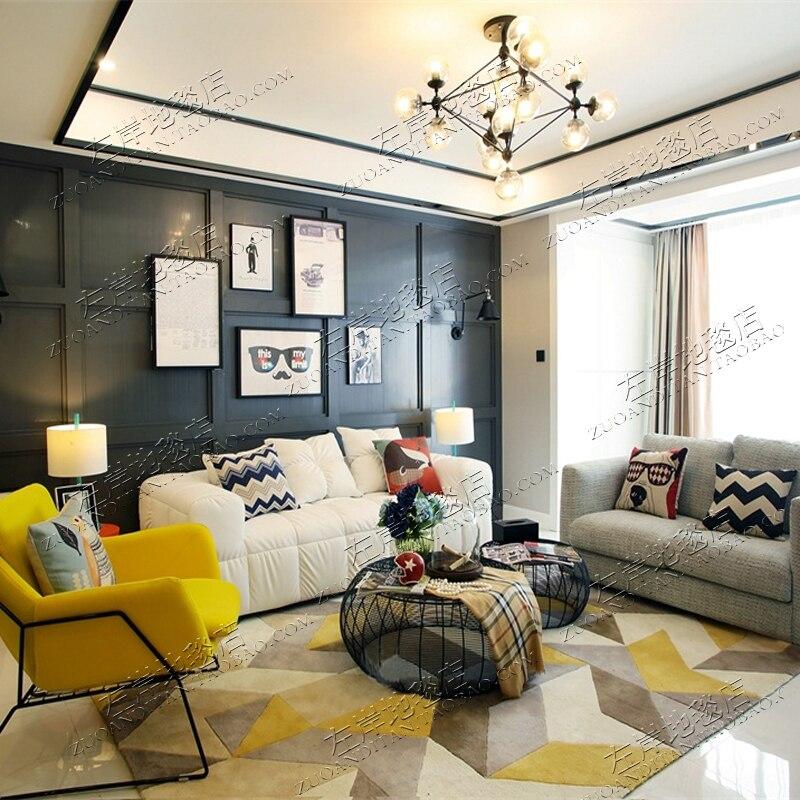 Fashion Simple font b Tartan b font Carpet The Sitting Room The Bedroom Carpet Acrylic Rugs