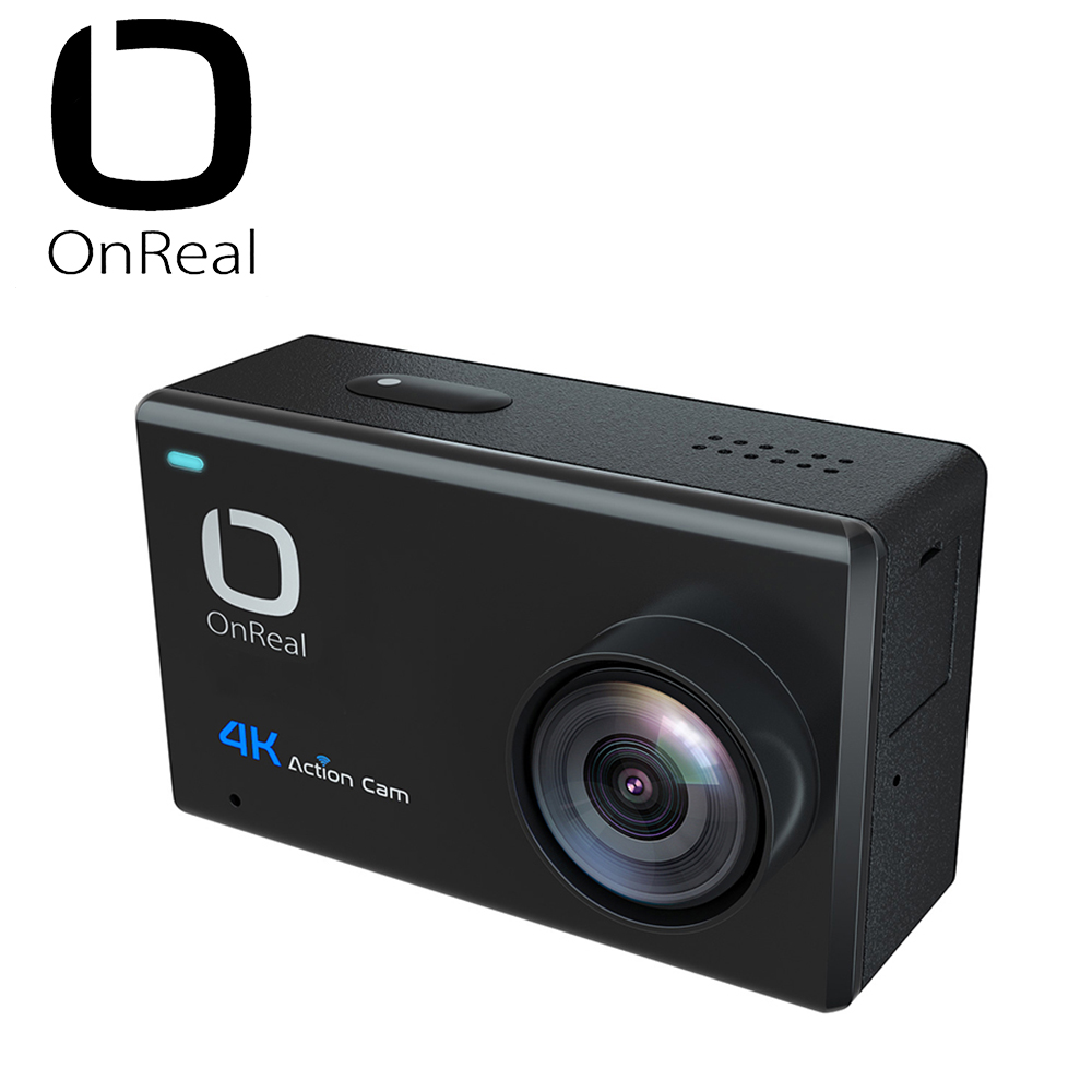 OnReal Action Camera 4K Action Camera 170 Degree 2.45 Touch Screen Waterproof Camera WiFi Sports Camera f88 action camera red