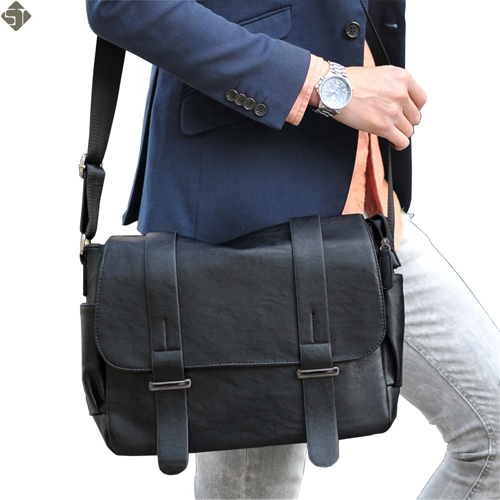 Brand design Top PU Leather men bag,casual business leather men messenger bag,vintage fashion men Shoulder bags Laptop bag hot sale genuine horse leather top pu leather casual vintage men envelop clutch bag handbag fashion brief messenger shoudler bag